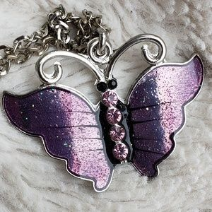 Jewelry - 🎈3 for $15  Purple Butterfly Necklace